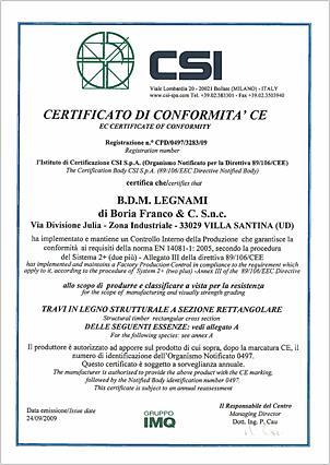 Certificato di Conformità CE
