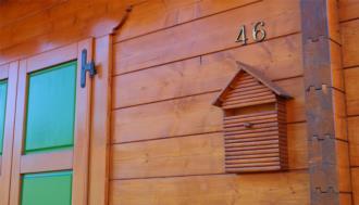 Casa in legno prefabbricata Illegio.Dettaglio costruttivo parete facciata.
