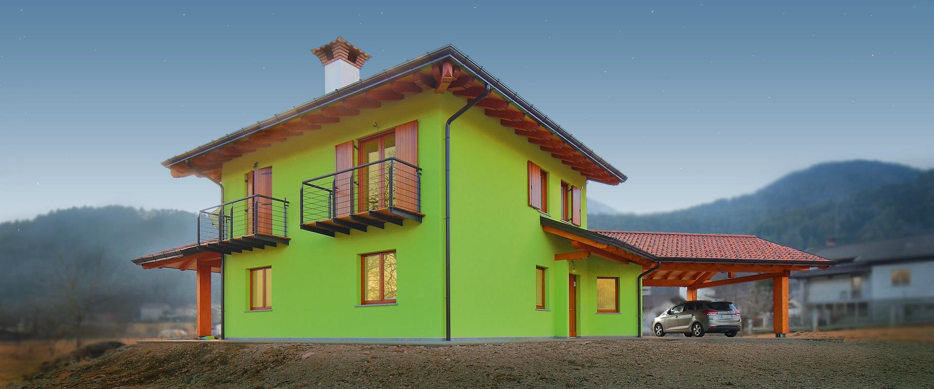 Casa verde villa di verzegnis for Piani di costruzione casa verde