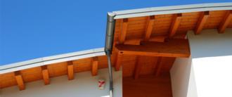 casa prefabbricata in legno a Lorenzaso - dettaglio tetto curvo b