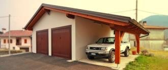 Garage in legno prefabbricato